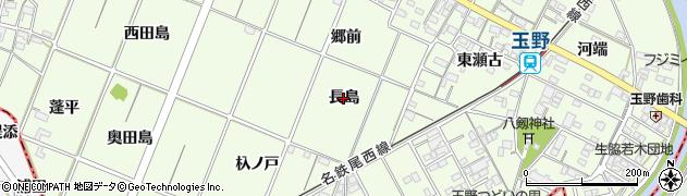 愛知県一宮市玉野(長島)周辺の地図