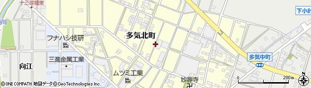 愛知県小牧市多気北町周辺の地図