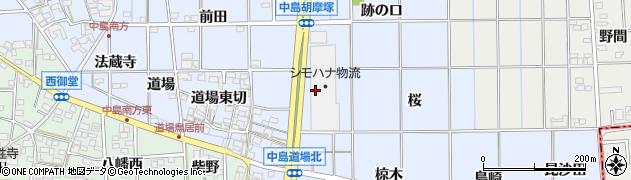 愛知県一宮市萩原町中島(大上海道)周辺の地図