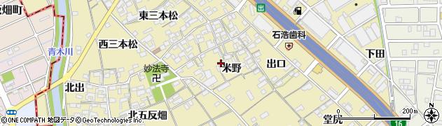 愛知県一宮市丹陽町九日市場(米野)周辺の地図