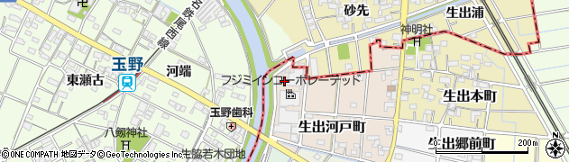 愛知県稲沢市西島町(市助河戸)周辺の地図