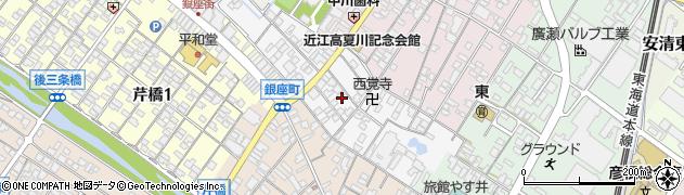 滋賀県彦根市錦町周辺の地図