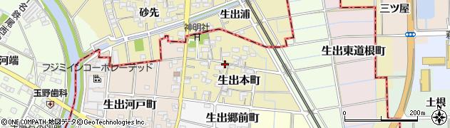 愛知県稲沢市生出本町周辺の地図