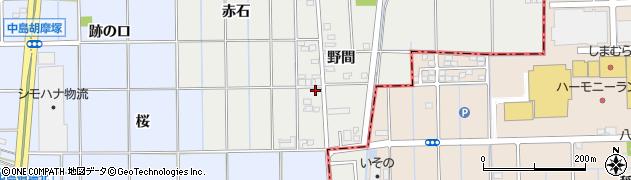 愛知県一宮市大和町南高井(野間)周辺の地図