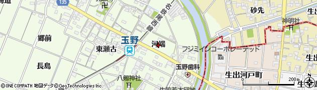 愛知県一宮市玉野(河端)周辺の地図