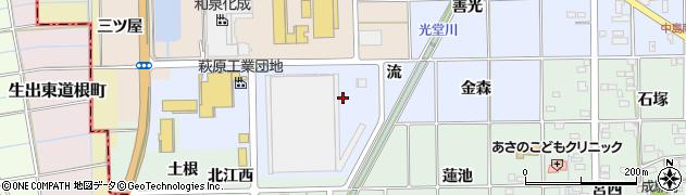 愛知県一宮市萩原町中島(流)周辺の地図