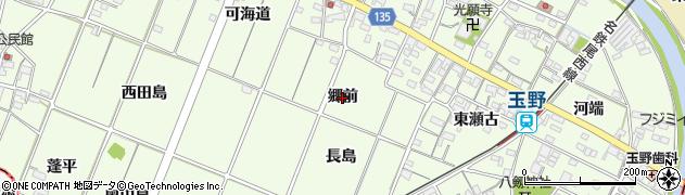 愛知県一宮市玉野(郷前)周辺の地図