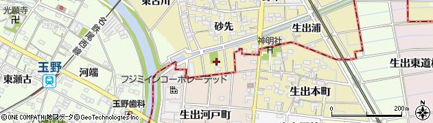 愛知県一宮市萩原町築込(河戸)周辺の地図