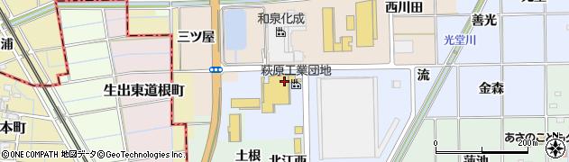 愛知県一宮市萩原町中島(伊勢田)周辺の地図