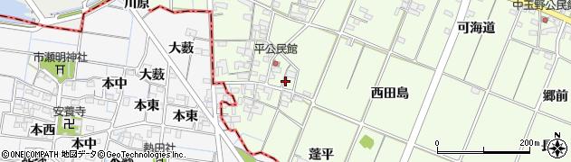 愛知県一宮市玉野(平)周辺の地図