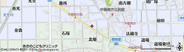 愛知県一宮市萩原町中島(往還添西切)周辺の地図