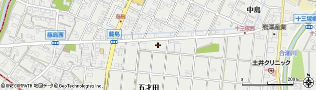 愛知県小牧市藤島町周辺の地図