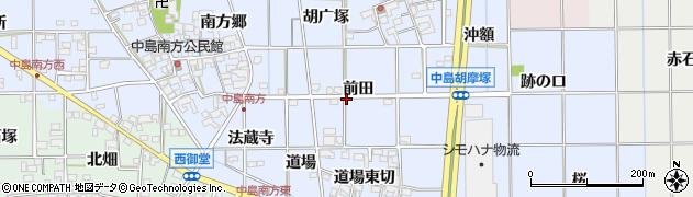 愛知県一宮市萩原町中島(前田)周辺の地図