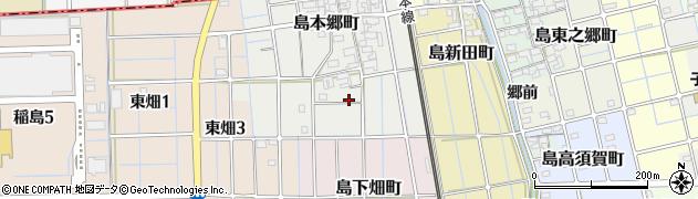 愛知県稲沢市島町周辺の地図