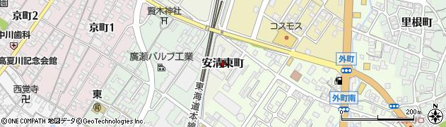 滋賀県彦根市安清東町周辺の地図