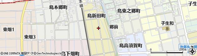 愛知県稲沢市島町(上農間)周辺の地図