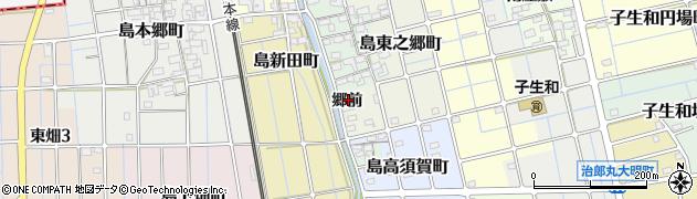 愛知県稲沢市島町(郷前)周辺の地図