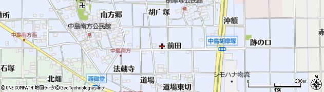 愛知県一宮市萩原町中島(東木戸南切)周辺の地図