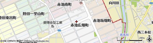 愛知県稲沢市赤池広畑町周辺の地図