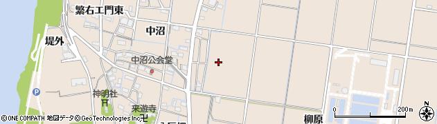 愛知県稲沢市祖父江町祖父江(中沼)周辺の地図