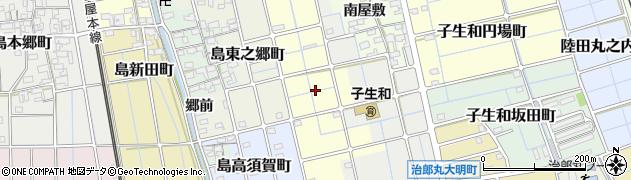 愛知県稲沢市島小原町周辺の地図