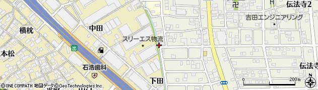愛知県一宮市丹陽町三ツ井(下城之越)周辺の地図