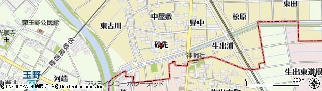 愛知県一宮市萩原町築込(砂先)周辺の地図
