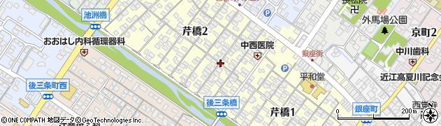 滋賀県彦根市芹橋周辺の地図