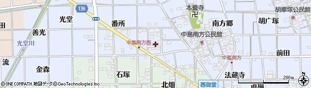 愛知県一宮市萩原町中島(往還)周辺の地図