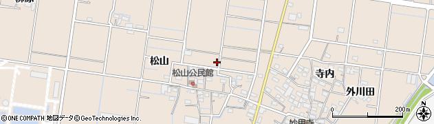愛知県稲沢市祖父江町祖父江(松山)周辺の地図