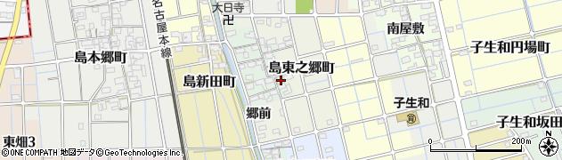 愛知県稲沢市島東之郷町周辺の地図