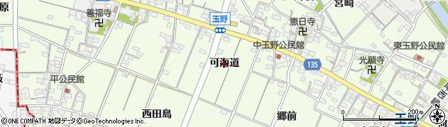 愛知県一宮市玉野(可海道)周辺の地図
