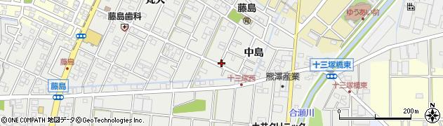 愛知県小牧市藤島町(中島)周辺の地図