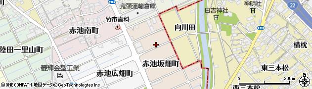 愛知県稲沢市赤池坂畑町周辺の地図