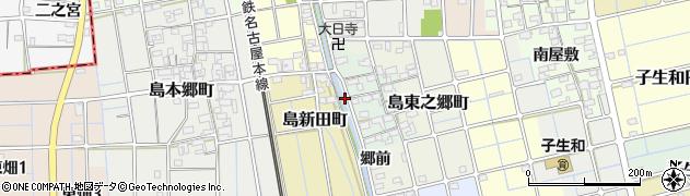 愛知県稲沢市島町(免定田)周辺の地図