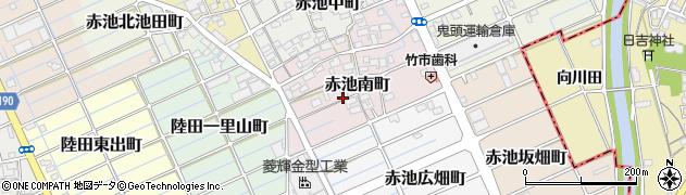 愛知県稲沢市赤池南町周辺の地図