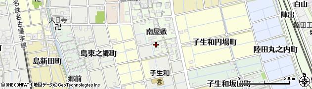 愛知県稲沢市子生和町(南屋敷)周辺の地図
