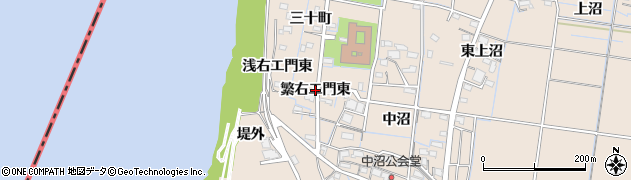 愛知県稲沢市祖父江町祖父江(繁右エ門東)周辺の地図