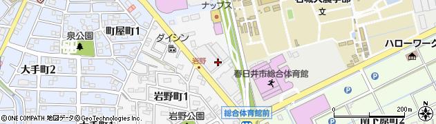 愛知県春日井市岩野町周辺の地図