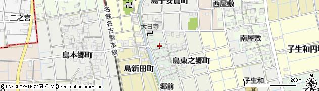 愛知県稲沢市島町(東之郷)周辺の地図