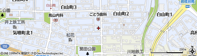 万吉 高蔵寺店周辺の地図
