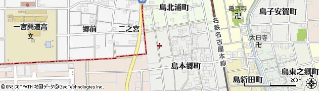 愛知県稲沢市島町(金辻)周辺の地図