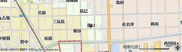 愛知県一宮市萩原町高松(落口)周辺の地図