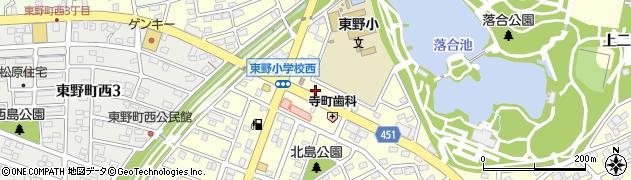 ほっともっと春日井東野町店周辺の地図