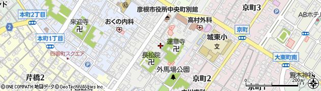 滋賀県彦根市中央町周辺の地図