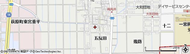愛知県一宮市大和町南高井(五反田)周辺の地図