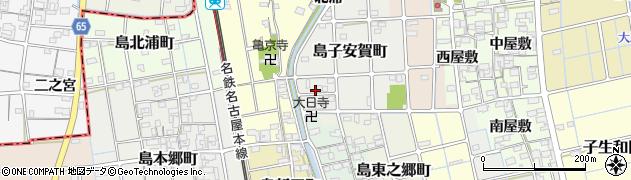 愛知県稲沢市島町(川添)周辺の地図