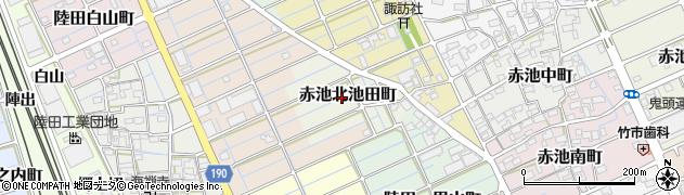 愛知県稲沢市赤池北池田町周辺の地図