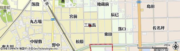 愛知県一宮市萩原町築込(三反長)周辺の地図