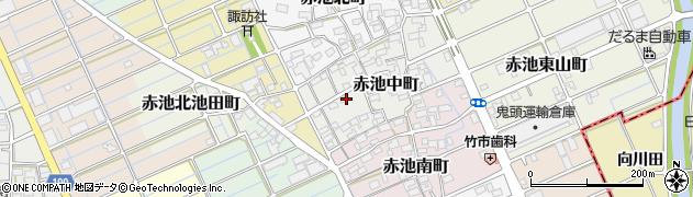 愛知県稲沢市赤池中町周辺の地図